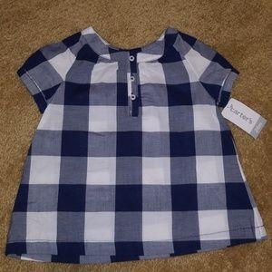 NWT 24m Carter's Short Sleeved Girl's Shirt